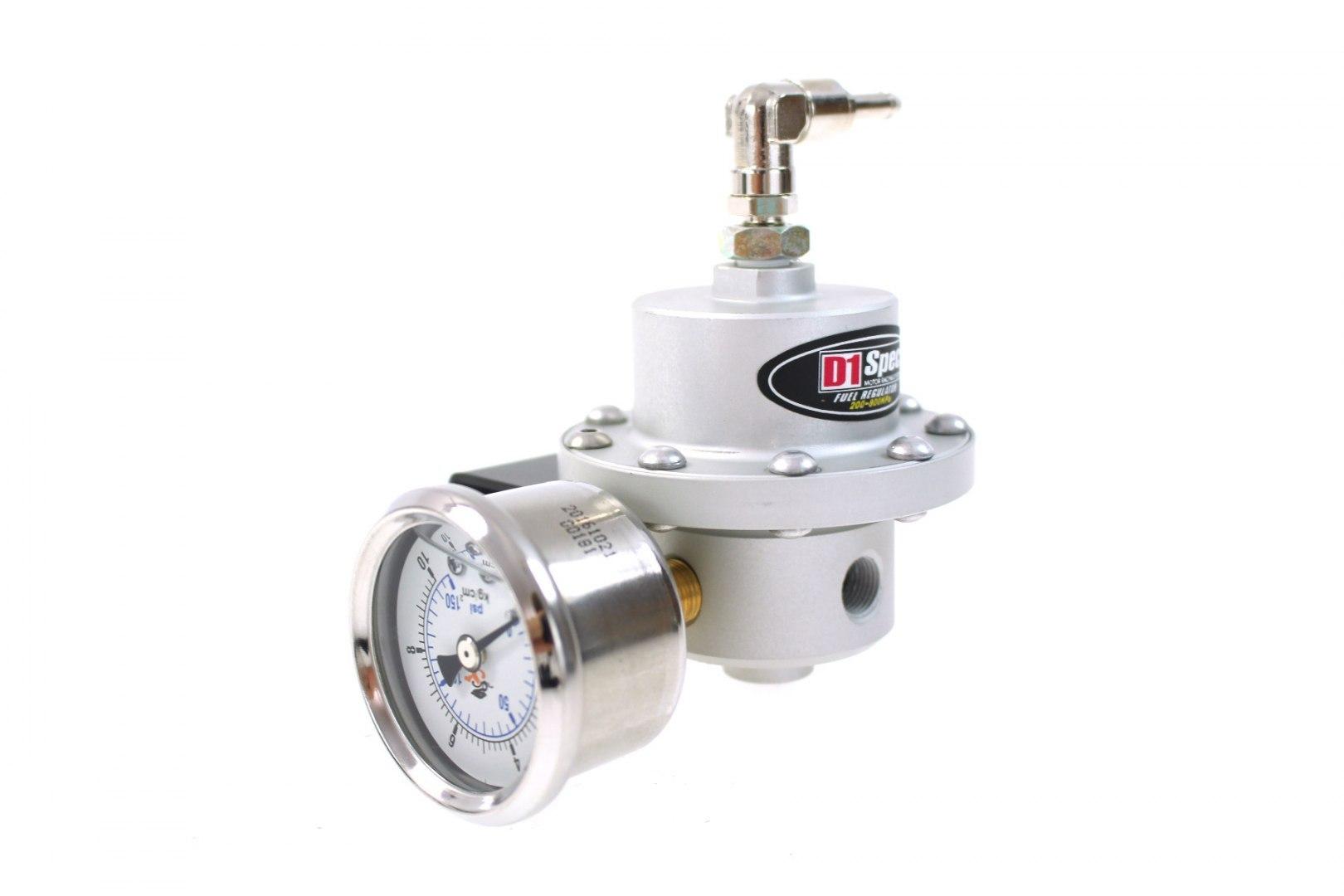 Regulator ciśnienia paliwa D1Spec Big SILVER - GRUBYGARAGE - Sklep Tuningowy